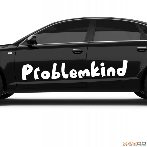 "Autoaufkleber ""Problemkind"""