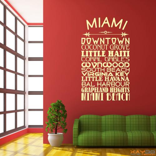 """Wandtattoo Stadtviertel """"Miami"""""""