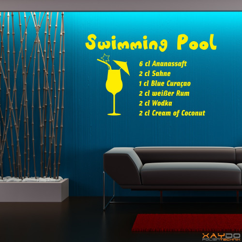 "Wandtattoo ""Swimming Pool"""
