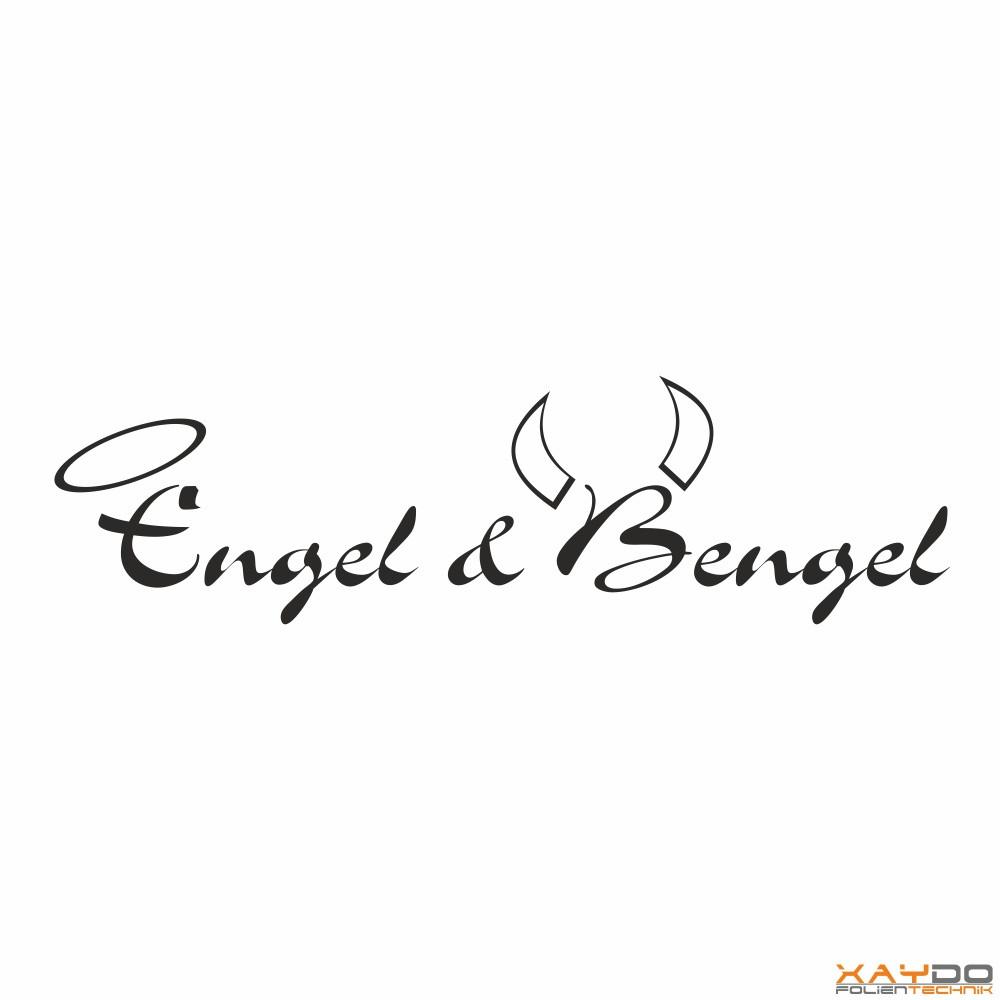 Wandtattoo Engel & Bengel