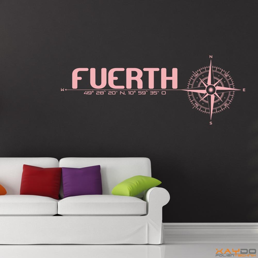 wandtattoo stadt f rth. Black Bedroom Furniture Sets. Home Design Ideas