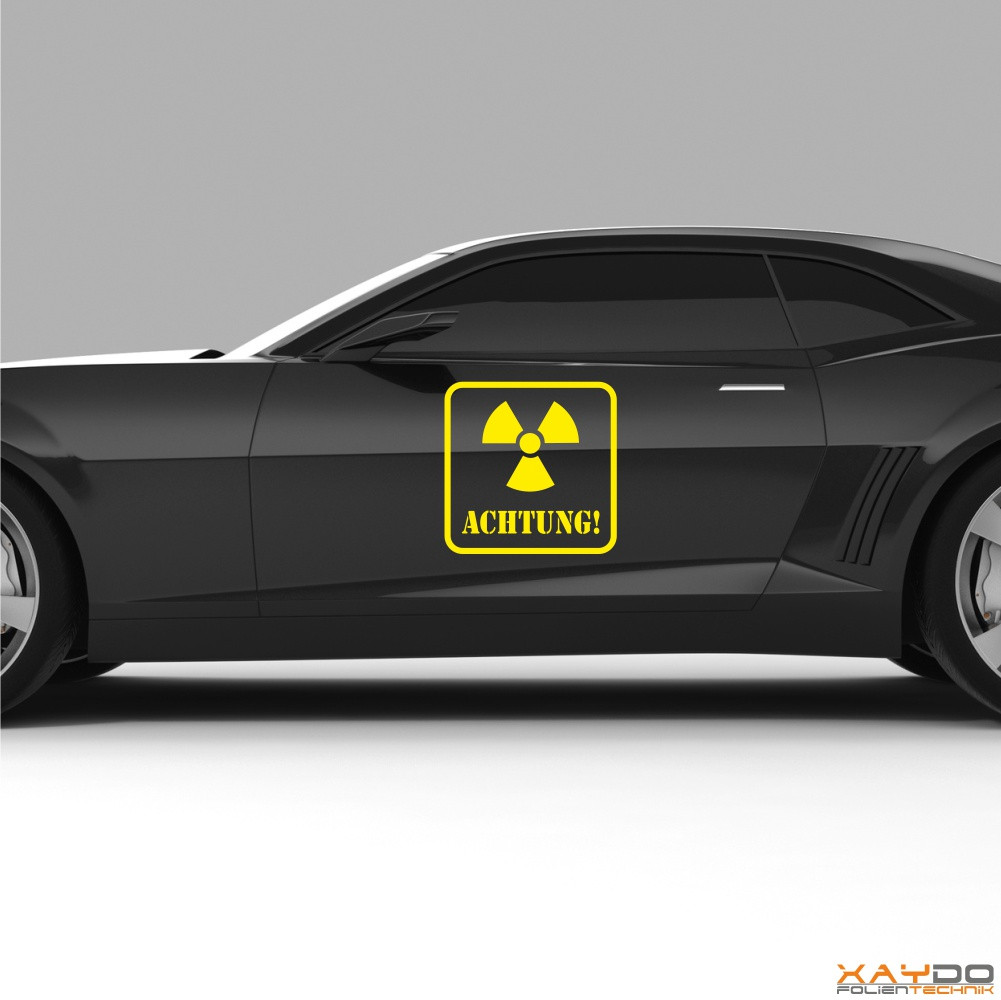 "Autoaufkleber ""Achtung Atomkraft"""