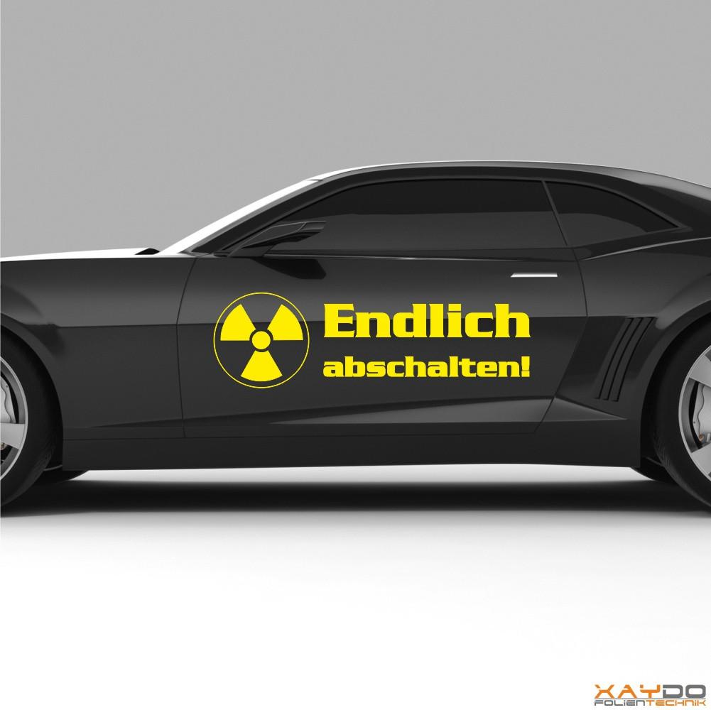 """Autoaufkleber """"Atomkraft endlich abschalten!"""""""