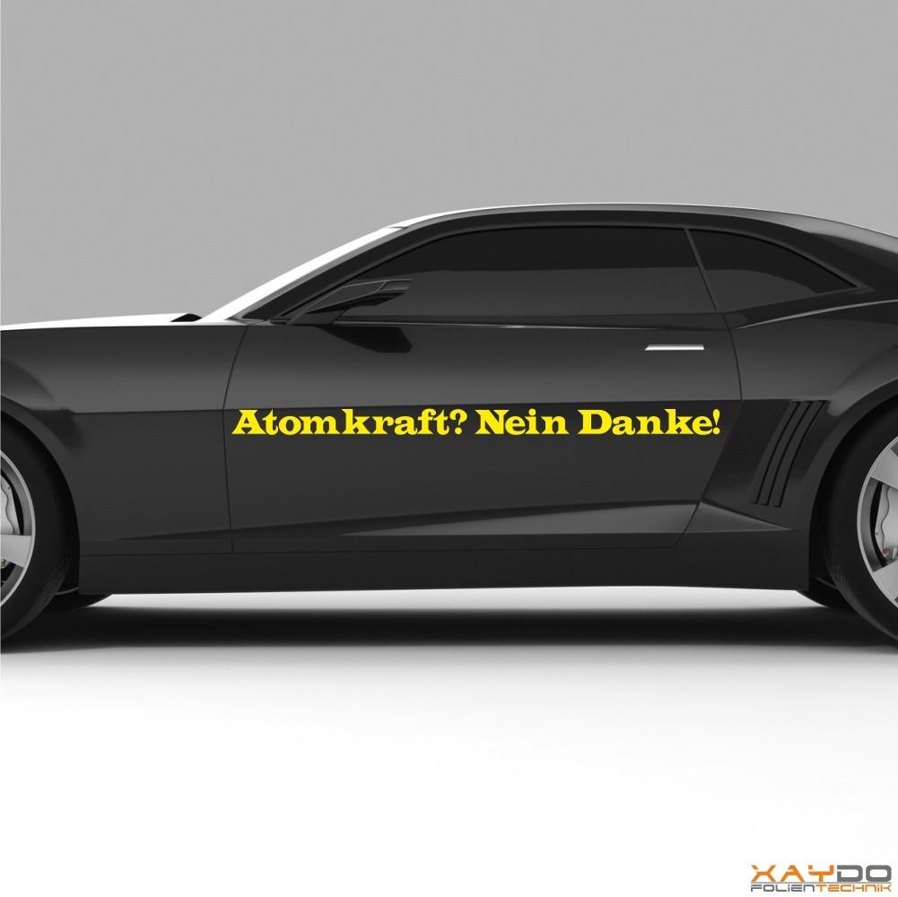 "Autoaufkleber Spruch ""Atomkraft? Nein Danke!  V.1"""