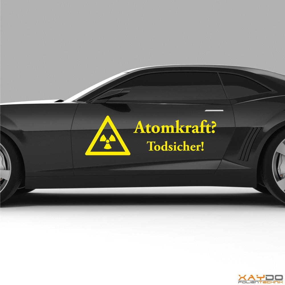"Autoaufkleber ""Atomkraft? Todsicher!"""