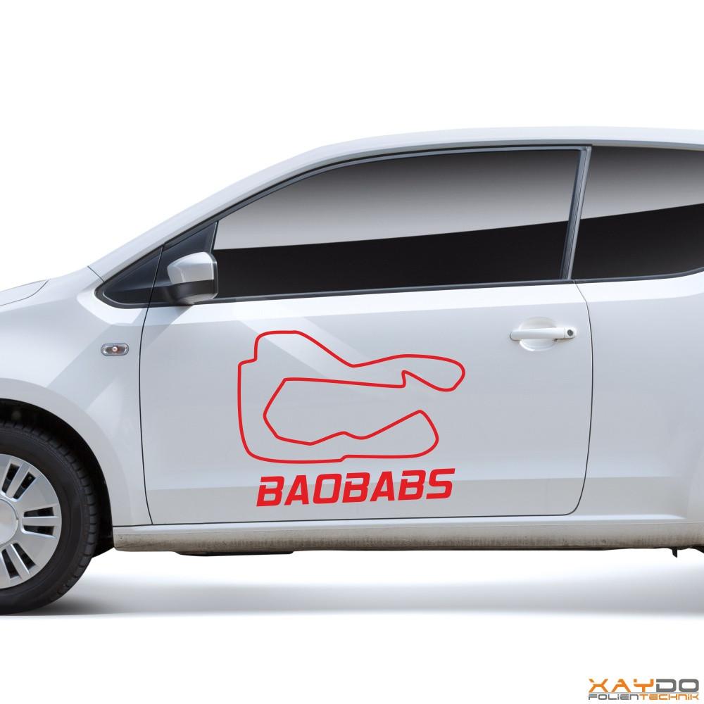 "Autoaufkleber ""Baobabs"""