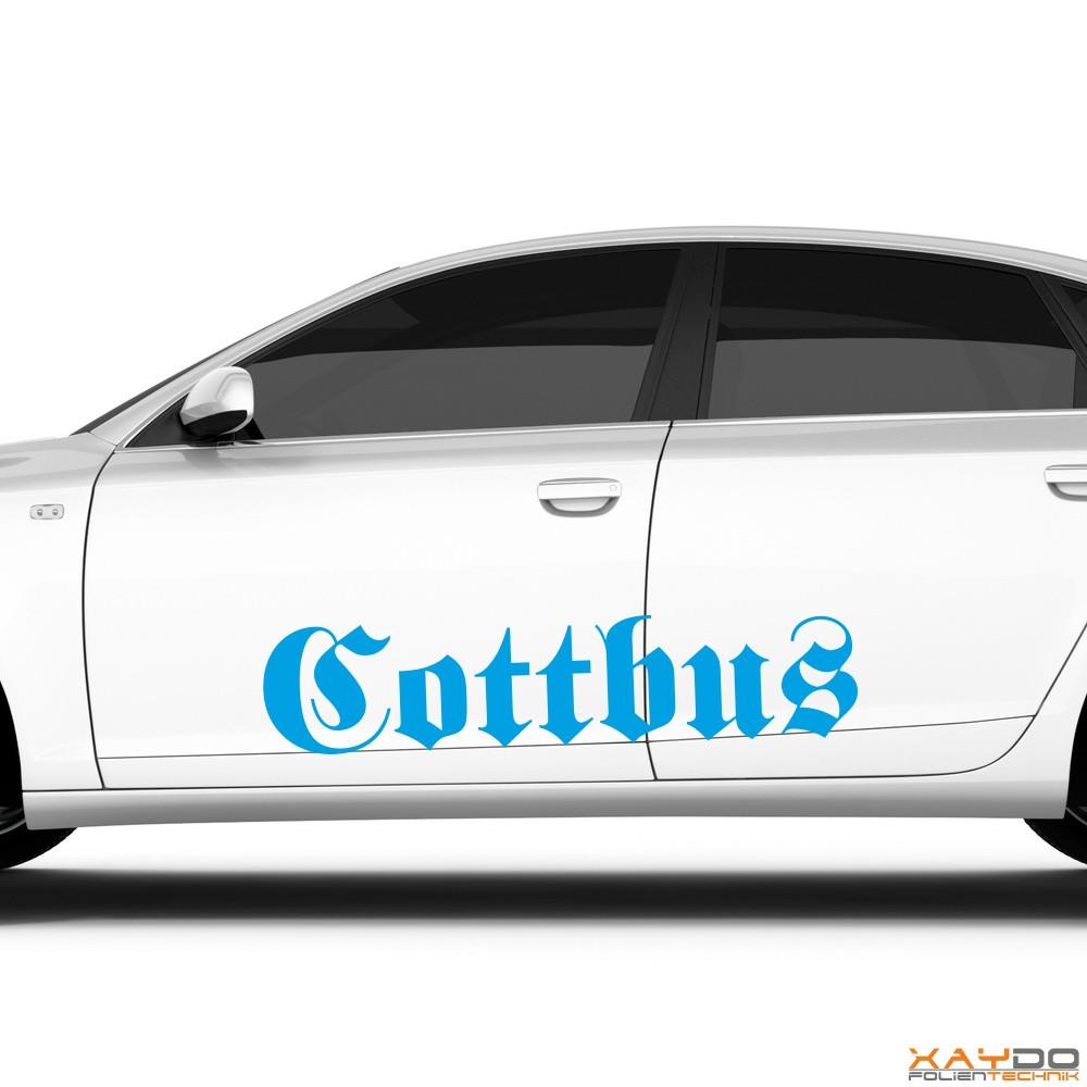 "Autoaufkleber ""Cottbus"""