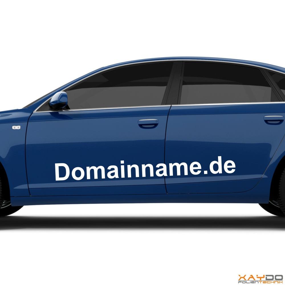 "Autoaufkleber ""Domainname"""