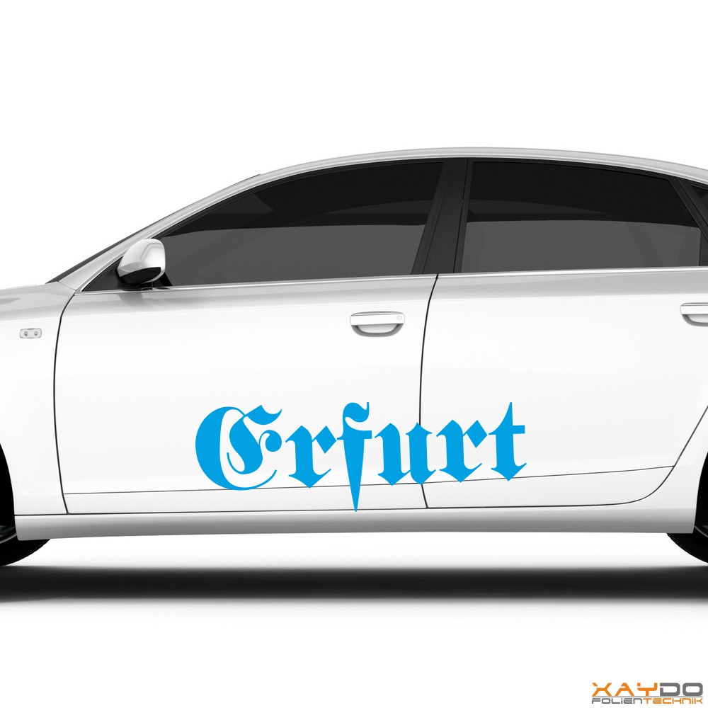 "Autoaufkleber ""Erfurt"""
