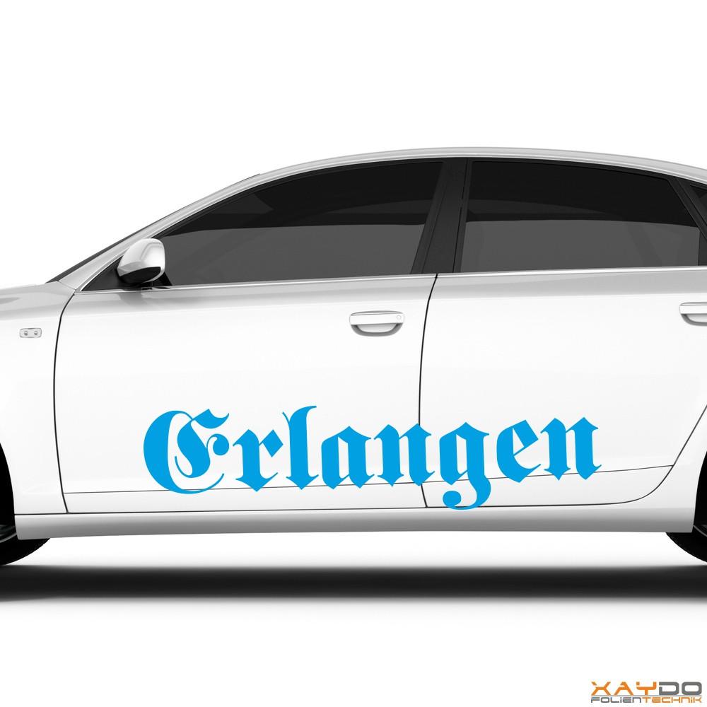 """Autoaufkleber """"Erlangen"""""""