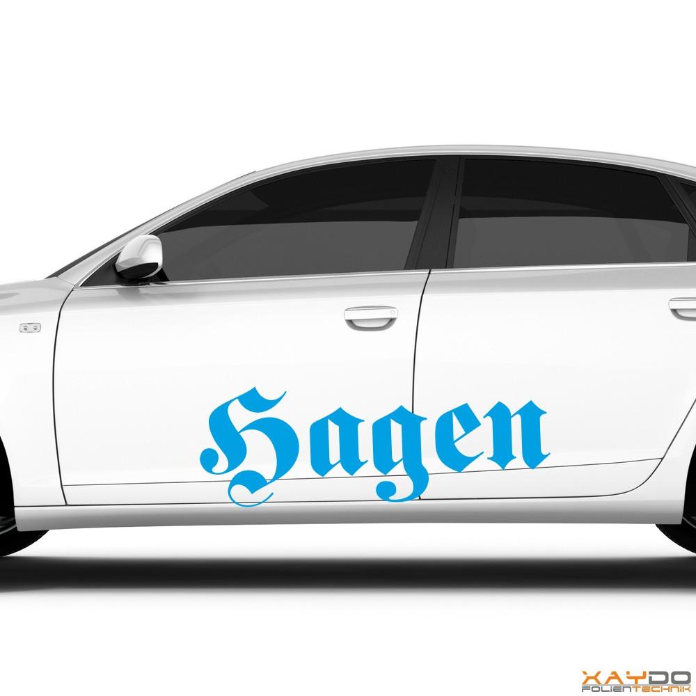 """Autoaufkleber """"Hagen"""""""