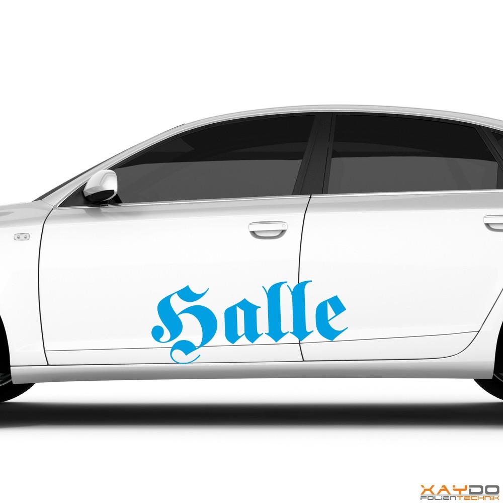 """Autoaufkleber """"Halle"""""""