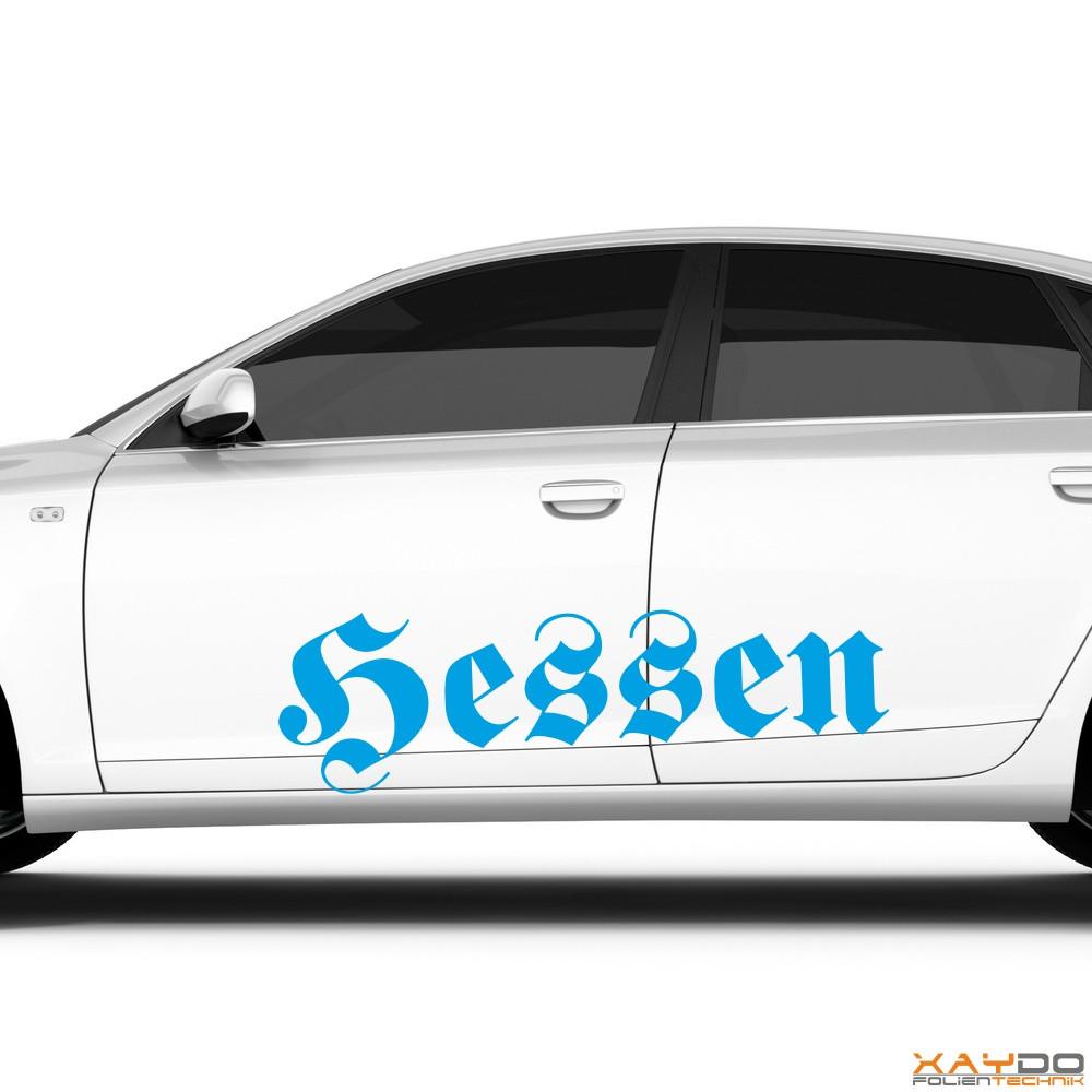 """Autoaufkleber """"Hessen"""""""