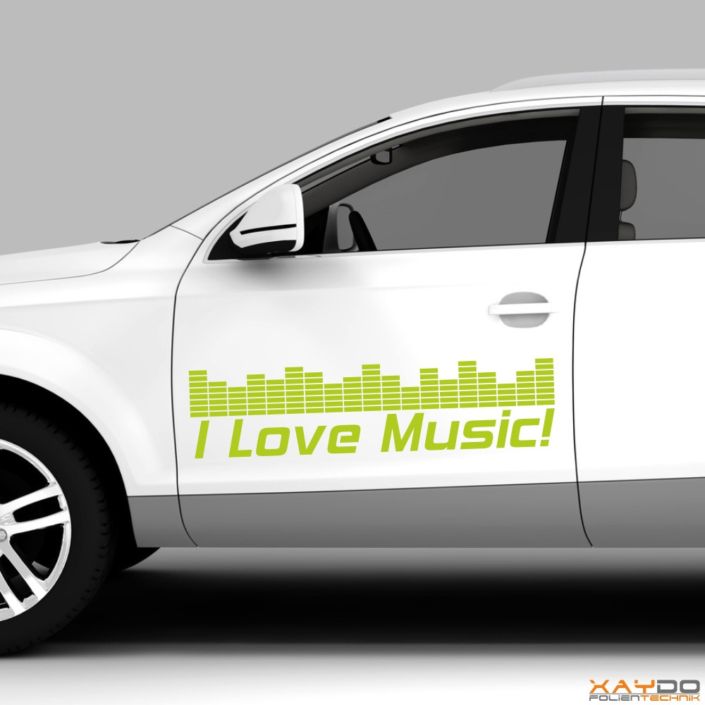 "Autoaufkleber ""I Love Music"""
