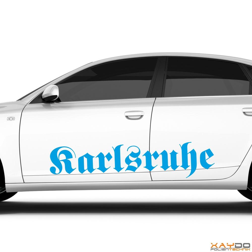 "Autoaufkleber ""Karlsruhe"""