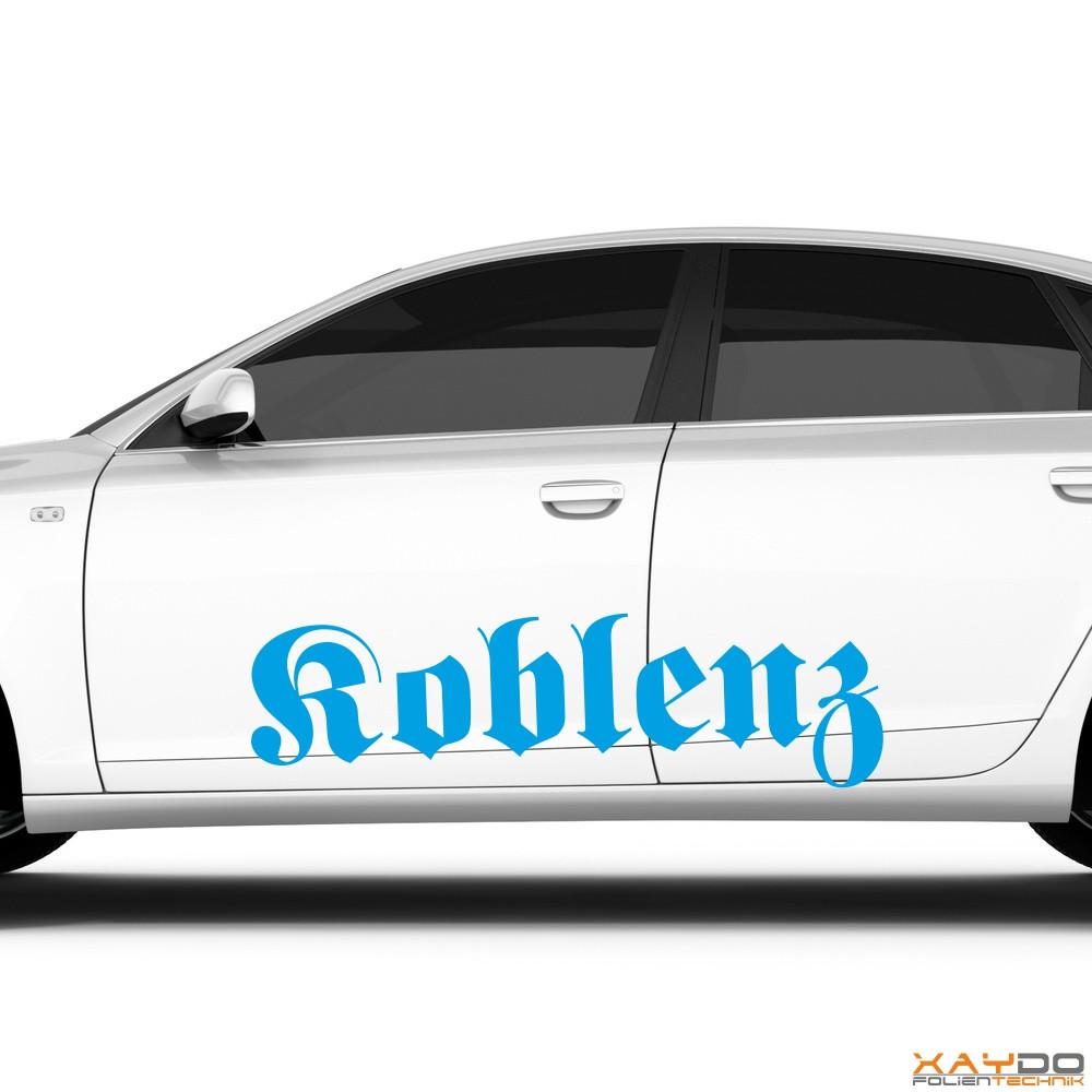 "Autoaufkleber ""Koblenz"""