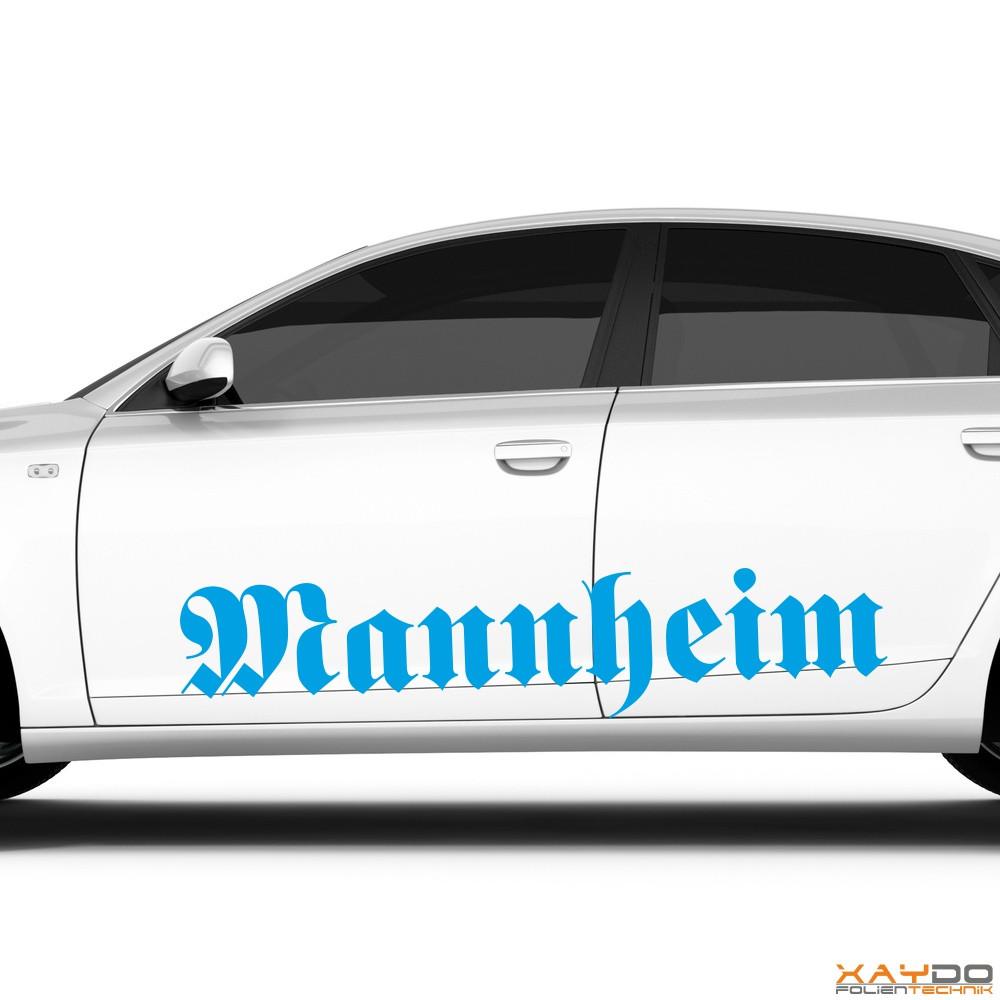"Autoaufkleber ""Mannheim"""