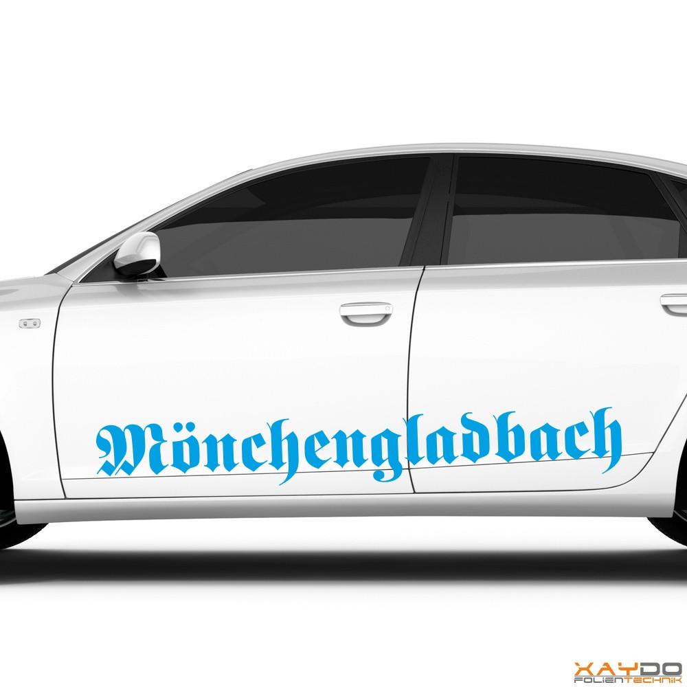 "Autoaufkleber ""Mönchengladbach"""