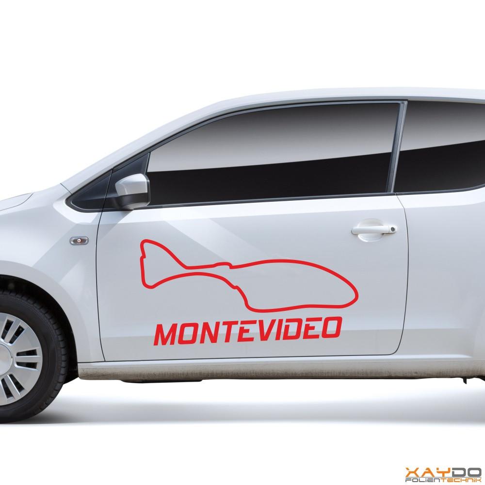 "Autoaufkleber ""Montevideo"""