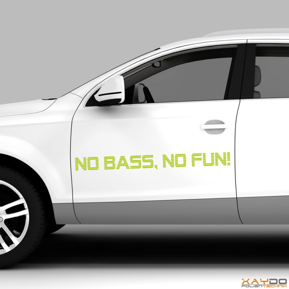 "Autoaufkleber ""No Bass, No Fun!"""