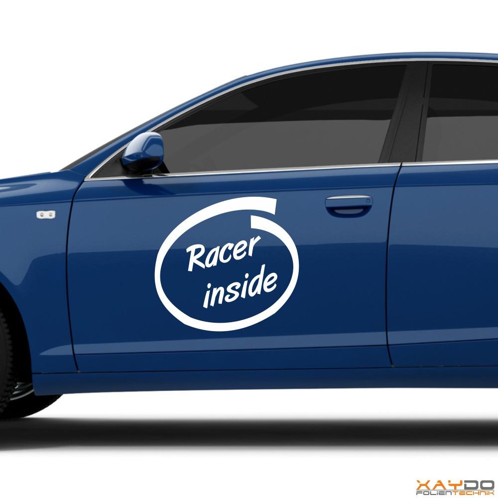 """Autoaufkleber """"Racer inside"""""""