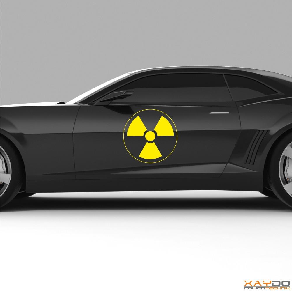 """Autoaufkleber """"Radioaktiv"""""""