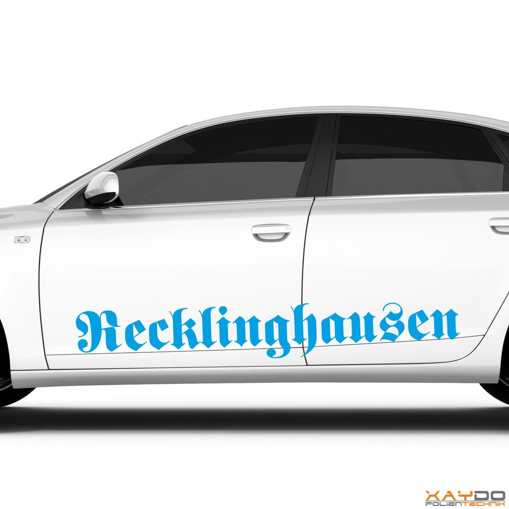 "Autoaufkleber ""Recklinghausen"""