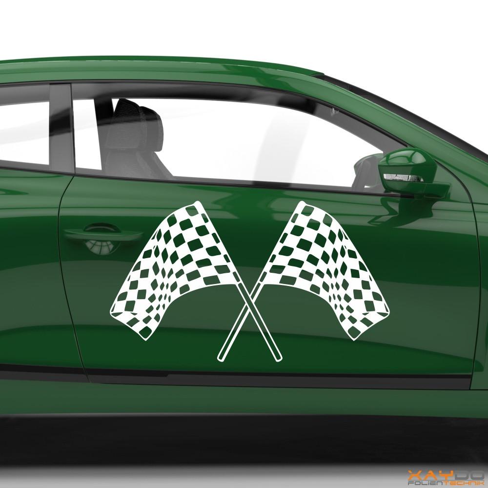 Autoaufkleber Rennflagge 001