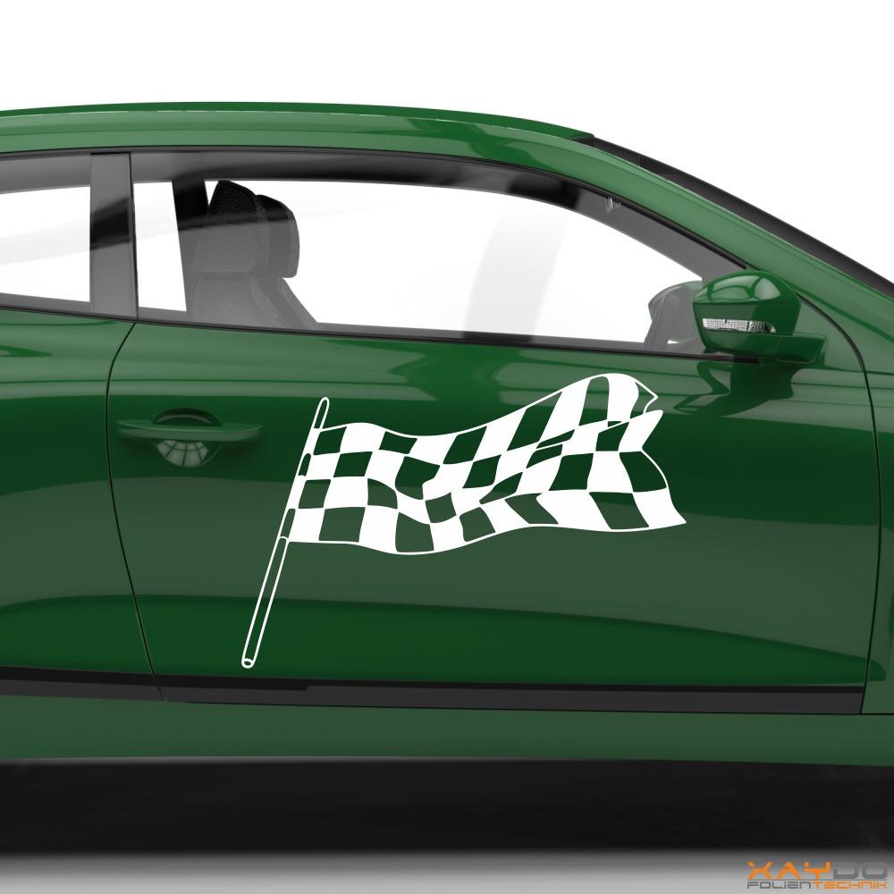 Autoaufkleber Rennflagge 004