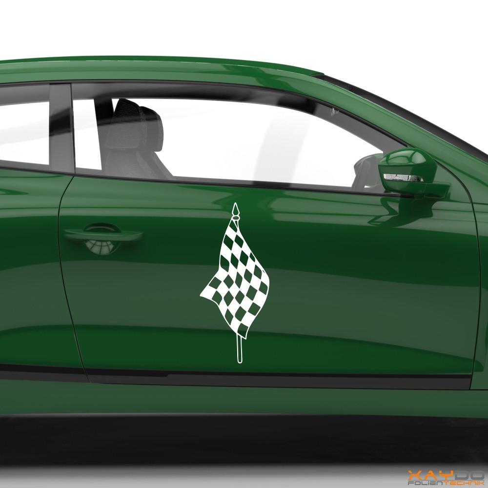 Autoaufkleber Rennflagge 006