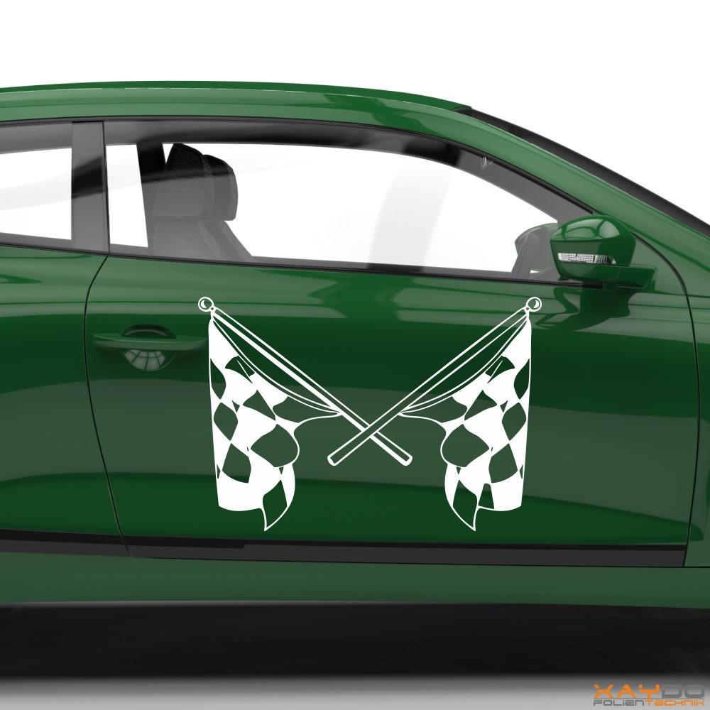 Autoaufkleber Rennflagge 007