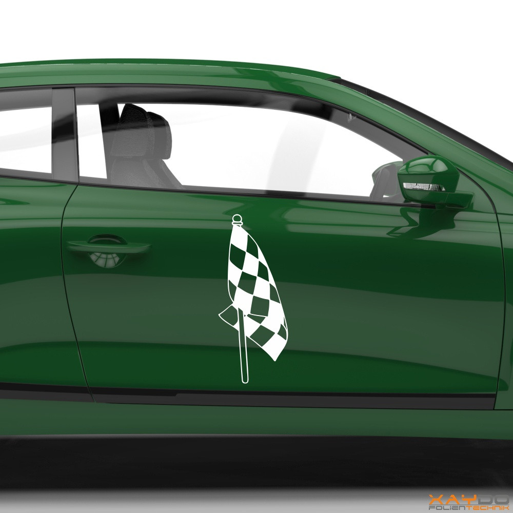 Autoaufkleber Rennflagge 014