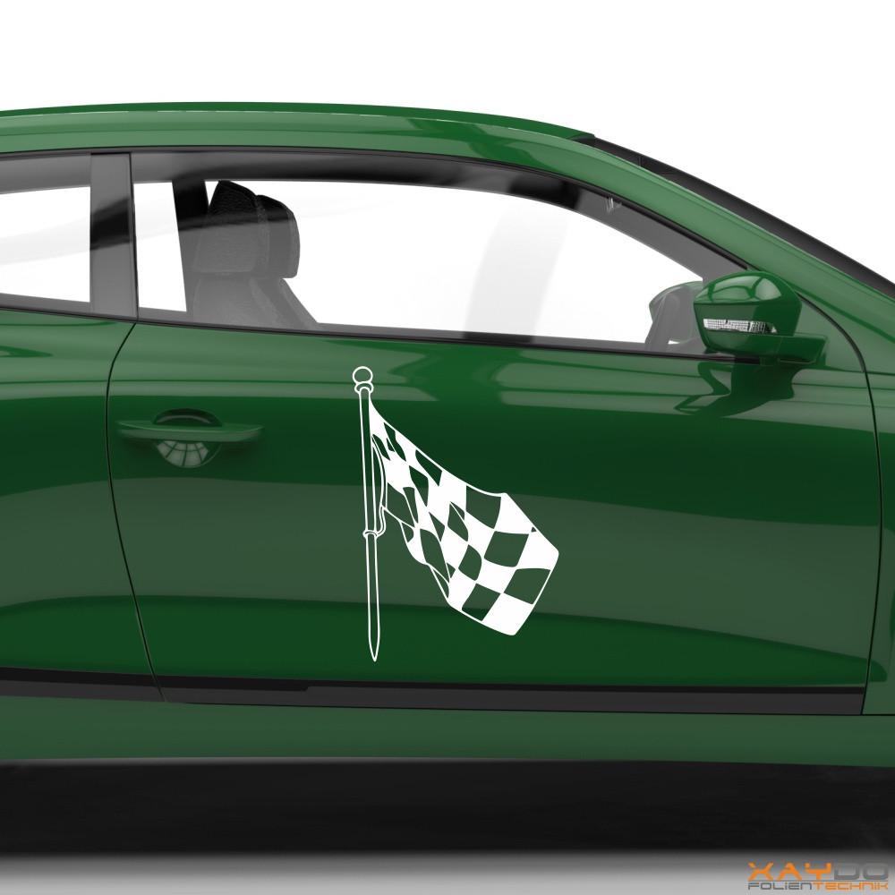 Autoaufkleber Rennflagge 016