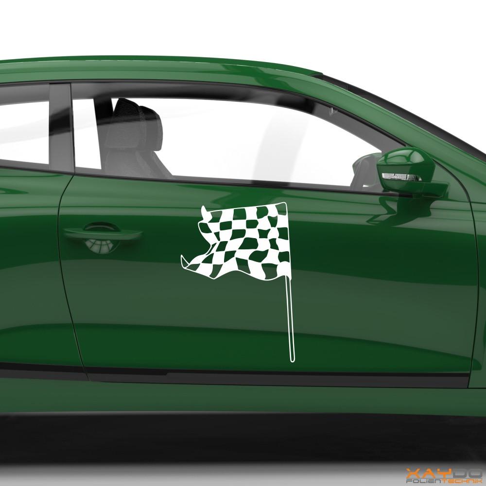 Autoaufkleber Rennflagge 017