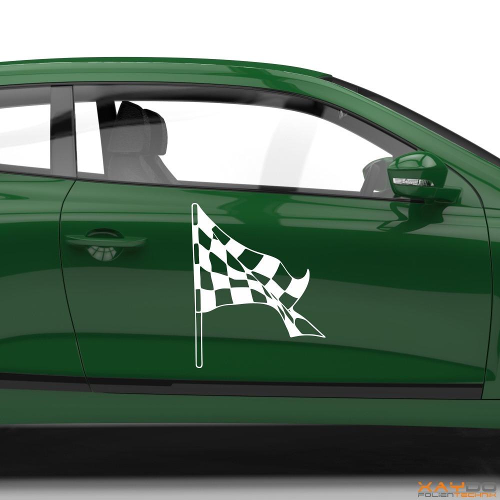 Autoaufkleber Rennflagge 022