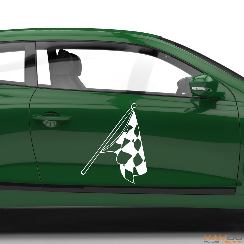 Autoaufkleber Rennflagge 023