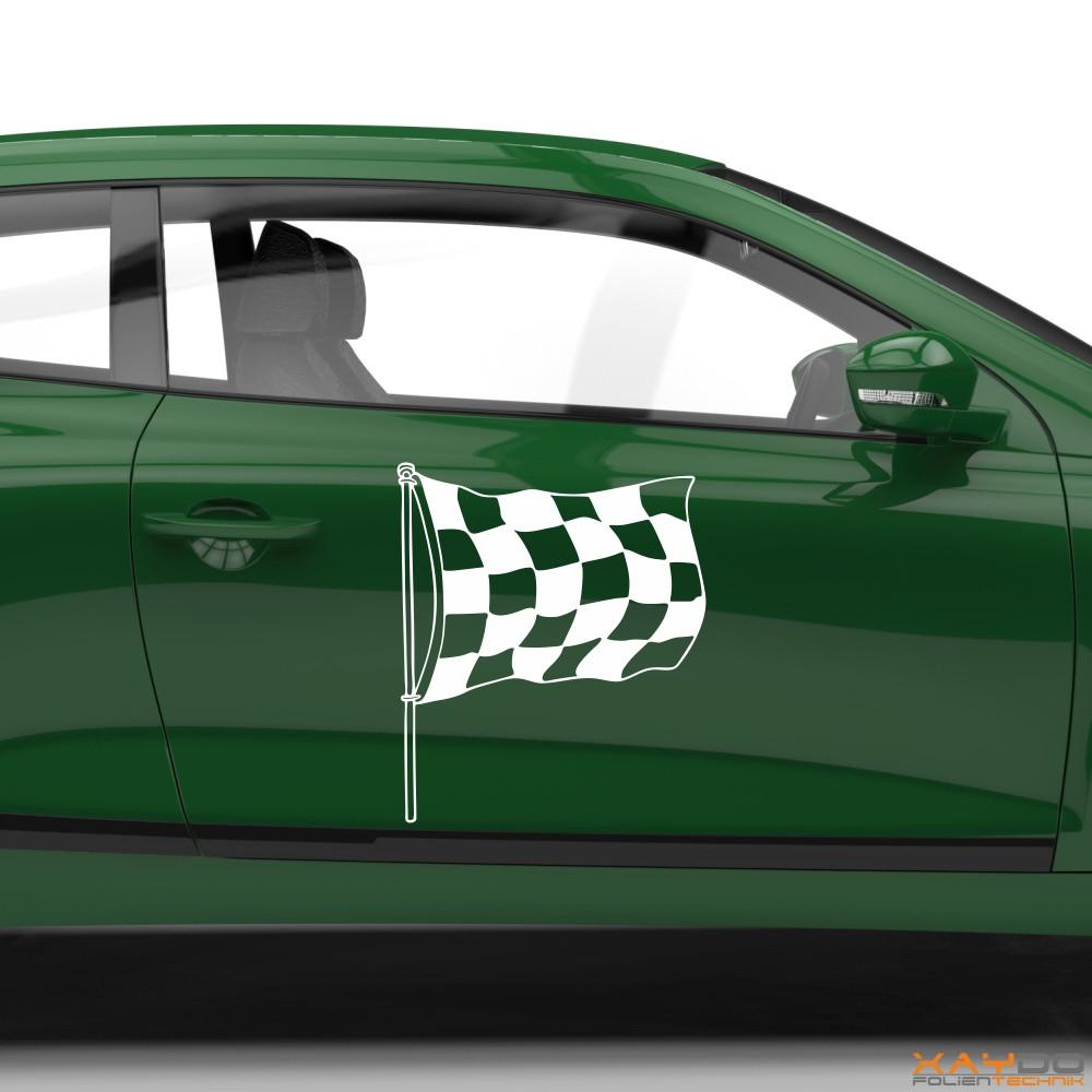 Autoaufkleber Rennflagge 025
