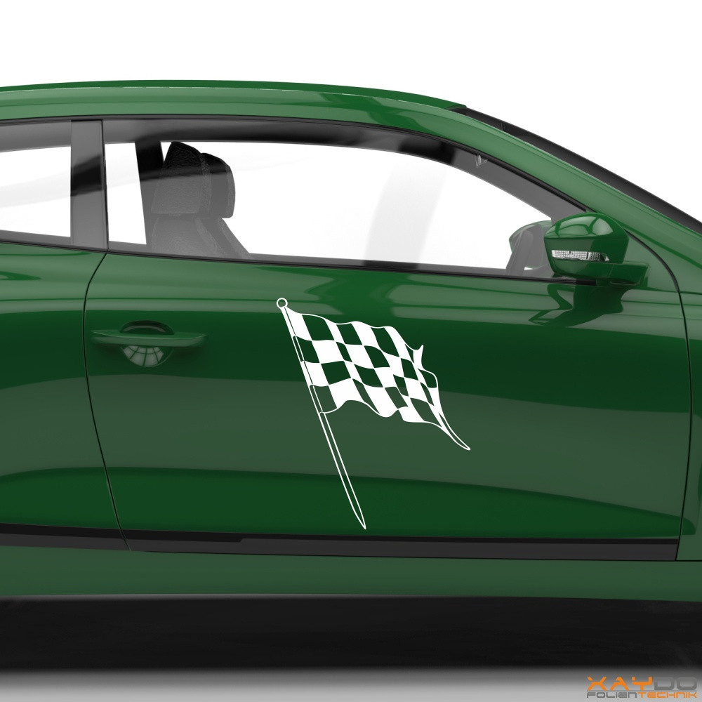 Autoaufkleber Rennflagge 026