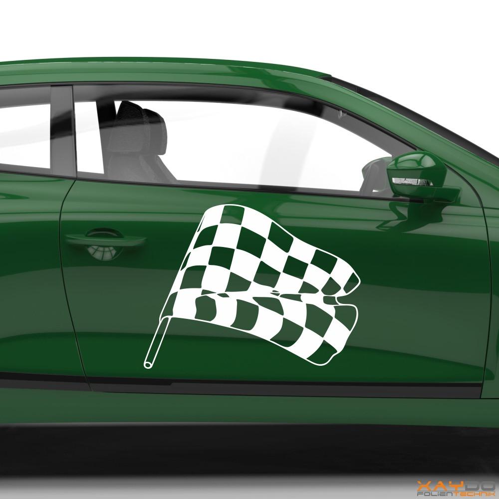 Autoaufkleber Rennflagge 027