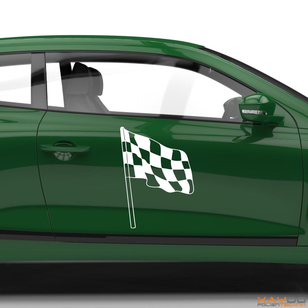 Autoaufkleber Rennflagge 029