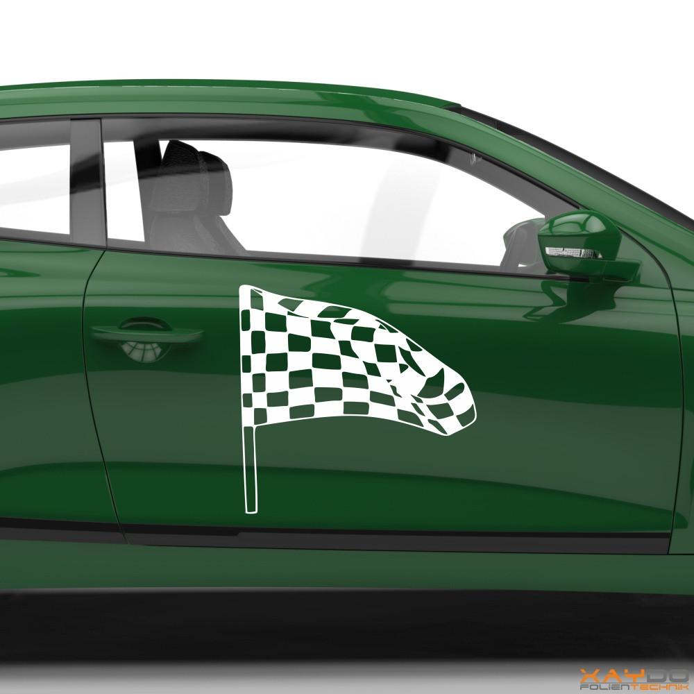 Autoaufkleber Rennflagge 030
