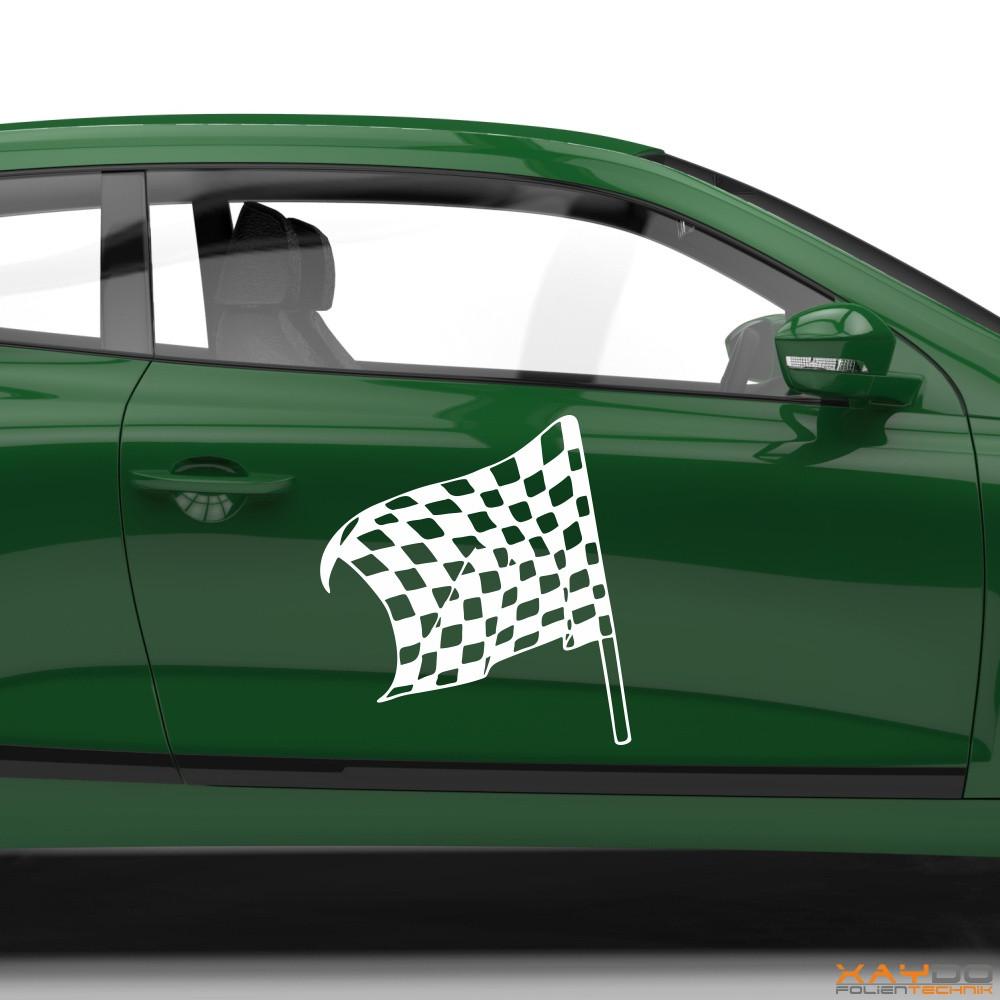 Autoaufkleber Rennflagge 032