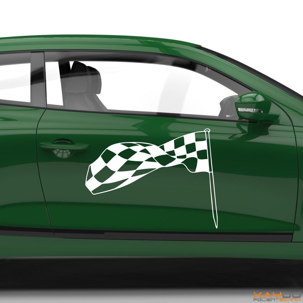 Autoaufkleber Rennflagge 035