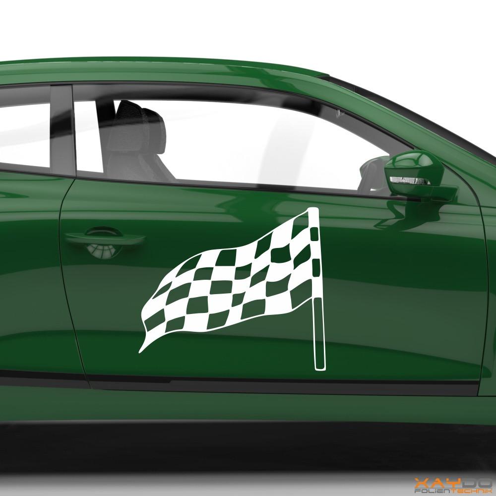 Autoaufkleber Rennflagge 036