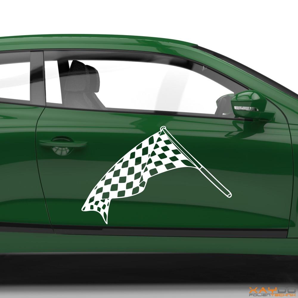 Autoaufkleber Rennflagge 037