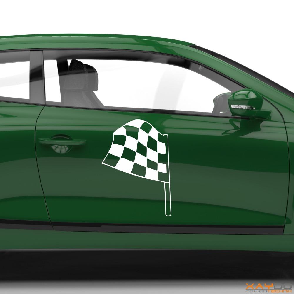 Autoaufkleber Rennflagge 038