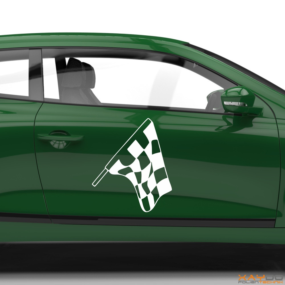 Autoaufkleber Rennflagge 039