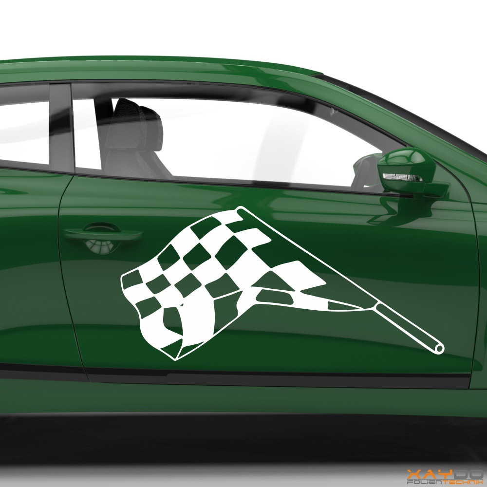 Autoaufkleber Rennflagge 040