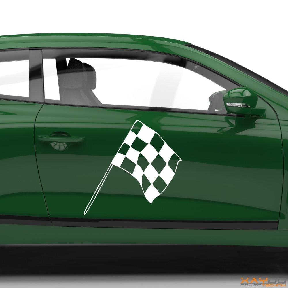 Autoaufkleber Rennflagge 044