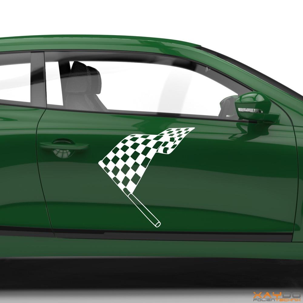 Autoaufkleber Rennflagge 047